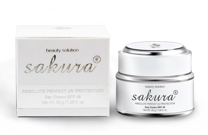 Kem trị tàn nhang Sakura Absolute Perfect UV Protection Day Cream SPF 45