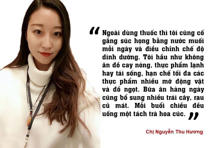 Chị Nguyễn Thu Hương chia sẻ kinh nghiệm chữa viêm amidan