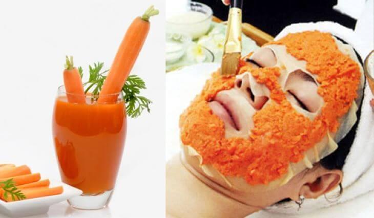 Ngay cả thứ quen thuộc như cà rốt cũng có thể dùng làm mặt nạ trị tàn nhang