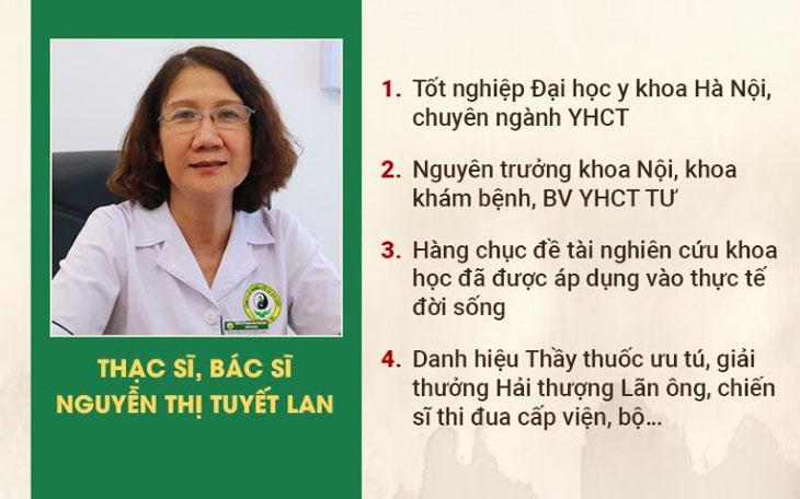 Bác sĩ Tuyết Lan - Nguyên Trưởng khoa Nội, khoa Khám bệnh BV YHCT TW