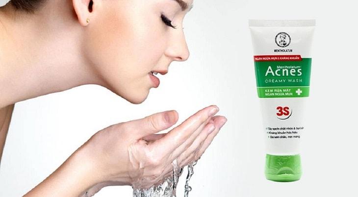 Sữa rửa mặt Acnes Creamy Wash chuyên dùng cho da mụn