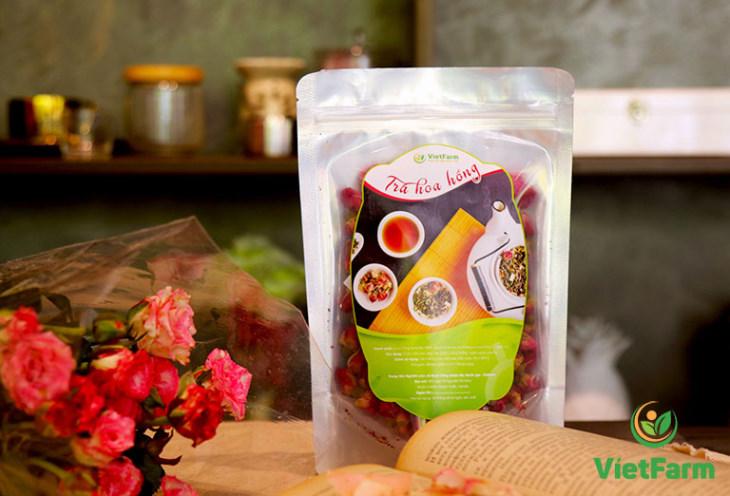Trà hoa hồng sạch thương hiệu Vietfarm an toàn cho người dùng