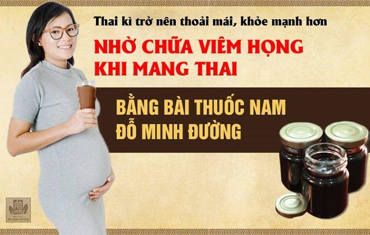 Bài thuốc viêm họng lành tính dành cho bà bầu của Đỗ Minh Đường