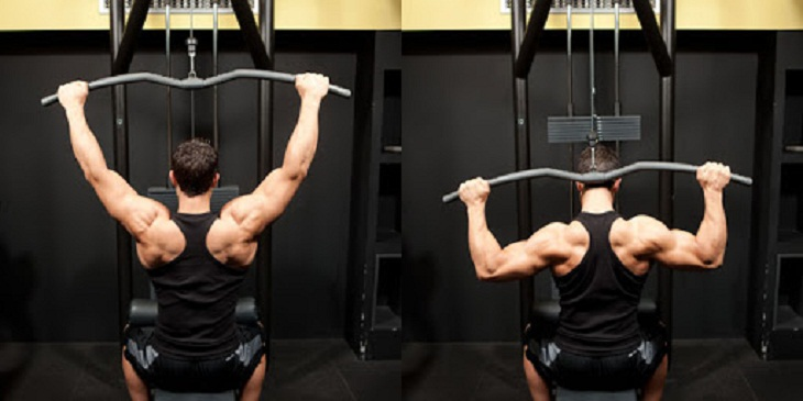 Bài tập Wide - Grip Pulldown Behind The Neck