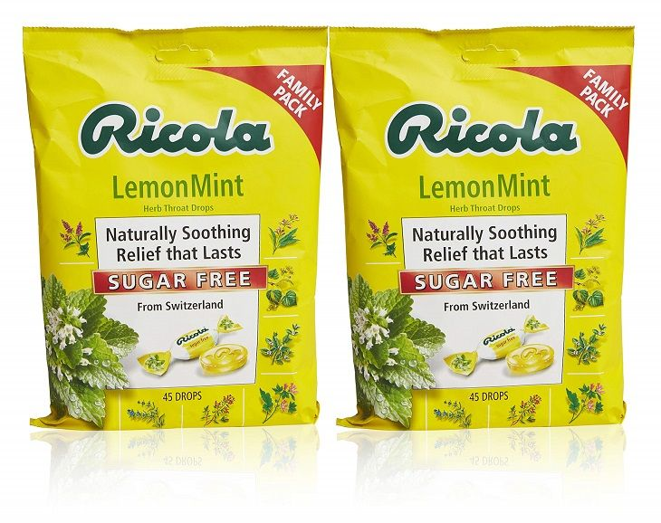 Ricola Lemon Mint giảm triệu chứng đau họng hiệu quả
