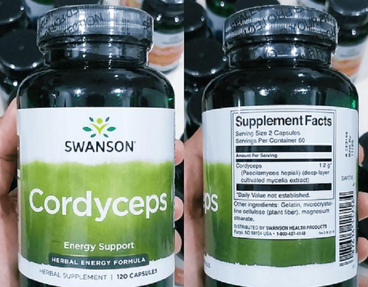 Viên nang đông trùng hạ thảo Swanson Cordyceps có nhiều dưỡng chất tốt cho sức khỏe