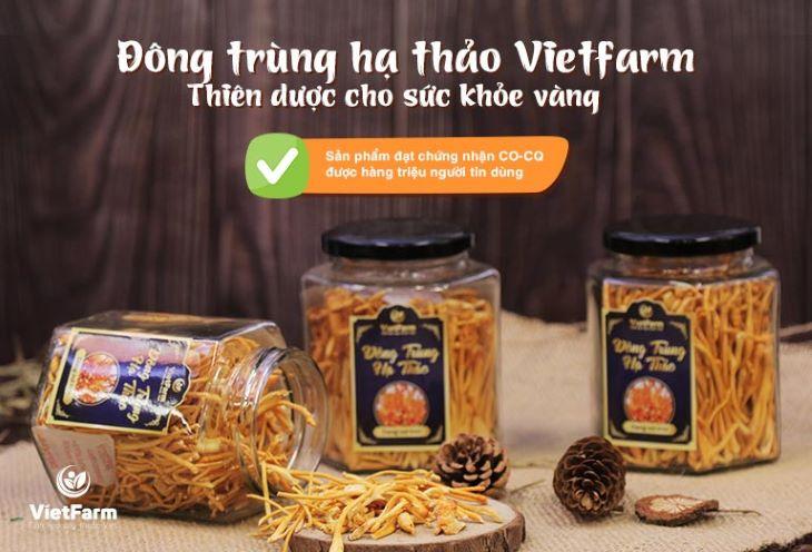 Đông trùng hạ thảo Vietfarm là sản phẩm chất lượng được nhiều người dùng đánh giá cao