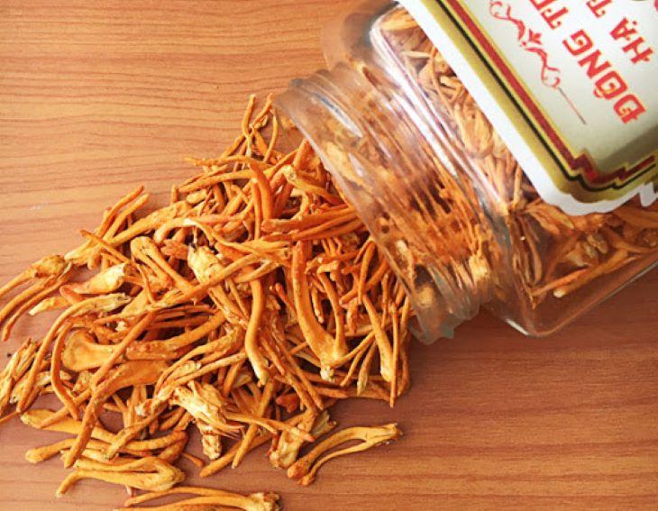 Để làm món gà hầm đông trùng hạ thảo người bệnh cần chuẩn bị 15g trùng thảo khô