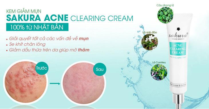 Gel trị mụn Sakura lành tính dạng gel dễ dàng thẩm thấu hơn