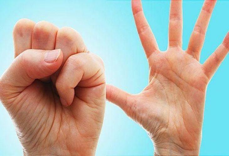 Bài tập nắm bàn tay
