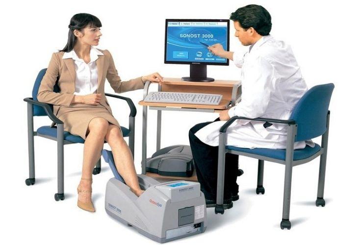 Thiết bị máy đo loãng xương sử dụng nhằm chẩn đoán và xác định tình trạng bệnh