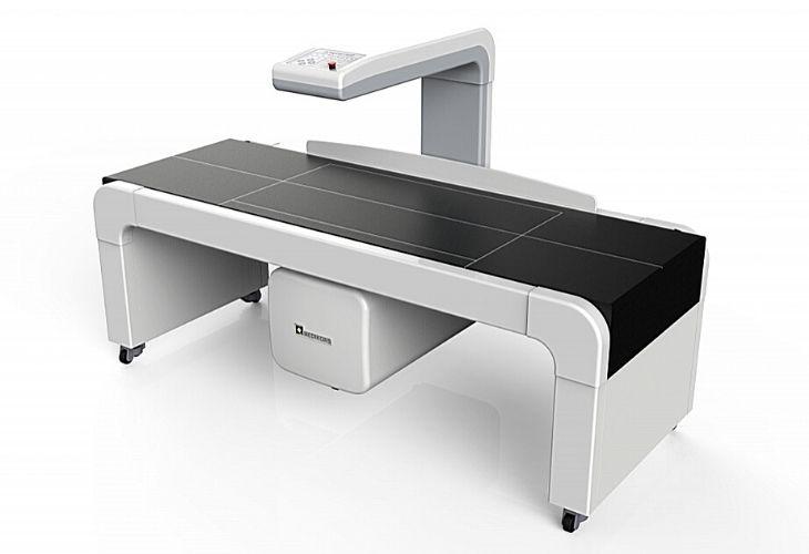 InAlyzer AIR sử dụng công nghệ tia rẻ quạt để đo mật độ xương toàn thân