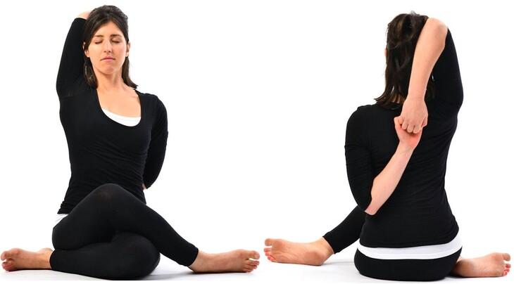 Tập các bài tập nhẹ nhàng bổ trợ cho vùng vai gáy