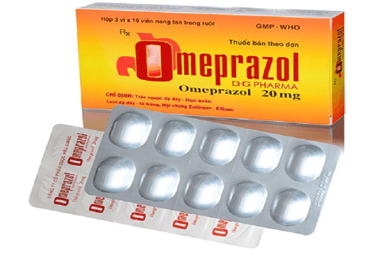 Thuốc chữa trào ngược dạ dày Omeprazol nên uống 20mg/lần/ngày/người