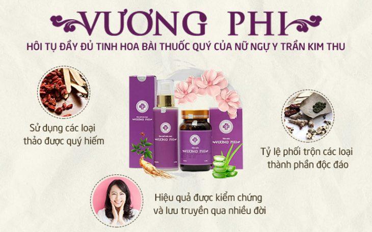 Bộ sản phẩm Nám - Tàn nhang Vương Phi với nhiều ưu điểm kế thừa từ bài thuốc cổ phương