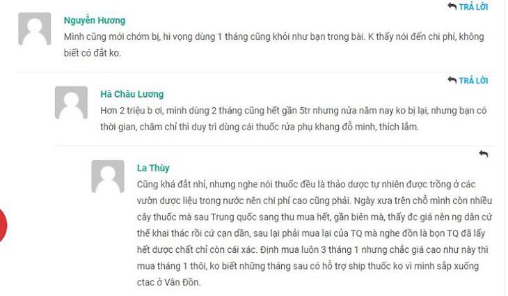 Một số phản hồi của người bệnh về bài thuốc