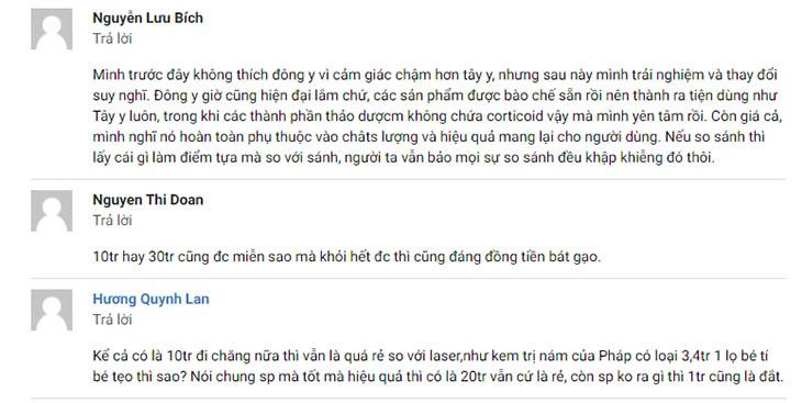 Phản hồi của chị Nguyễn Lưu Bích