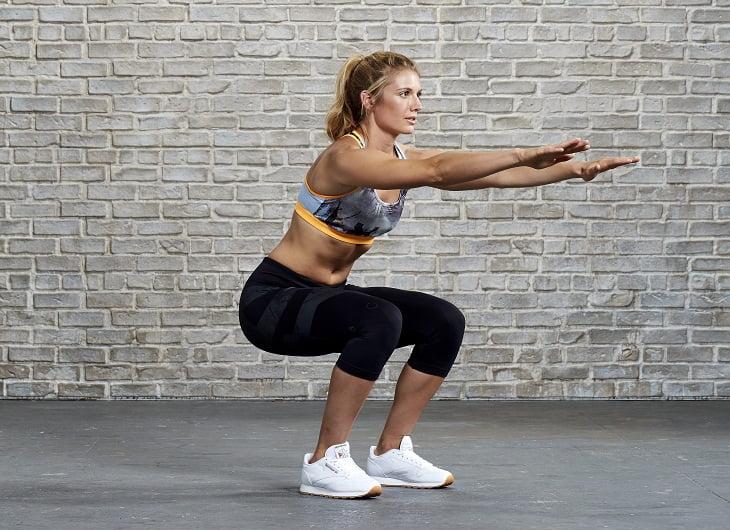 Bài tập gym tại nhà - Squat nâng cơ mông