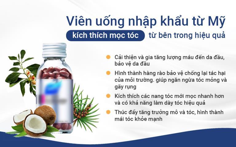 Viên uống Hush&Hush là một trong những chế phẩm hỗ trợ điều trị rụng tóc hiệu quả tại TTDLĐYVN