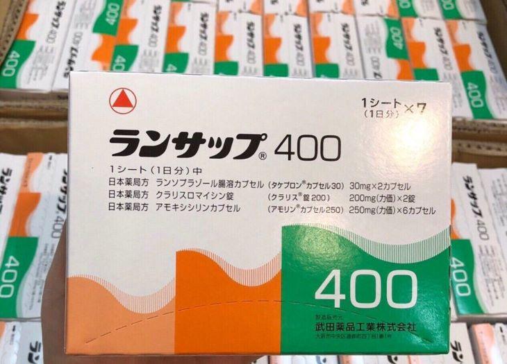 Thuốc trị vi khuẩn Hp trong dạ dày của Nhật- Lansup 400