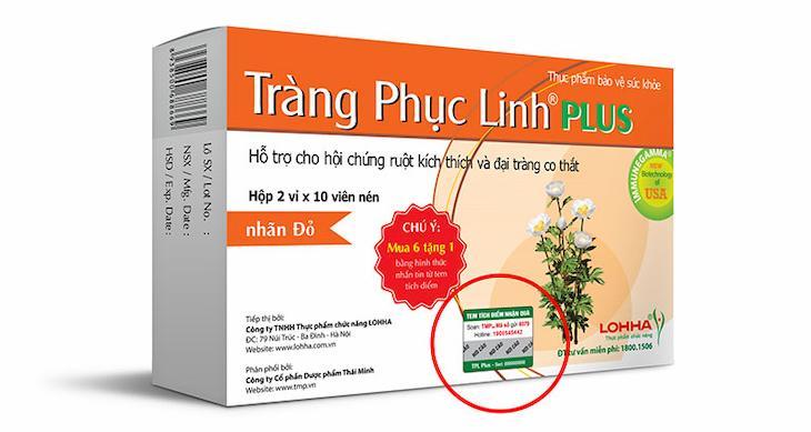 Tràng Phục Linh Plus hỗ trợ chữa viêm đại tràng co thắt