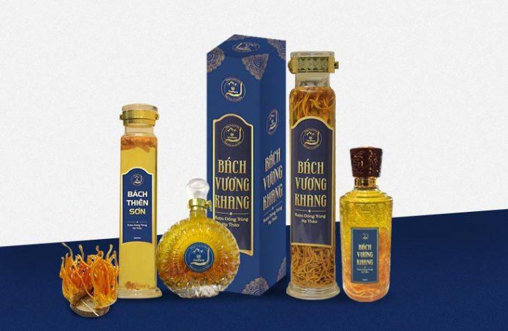 Rượu đông trùng hạ thảo Vietfarm được thiết kế đa dạng