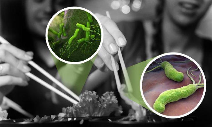 Vi khuẩn HP có thể lây nhiễm thông qua đường ăn uống và chung đụng đồ dùng cá nhân