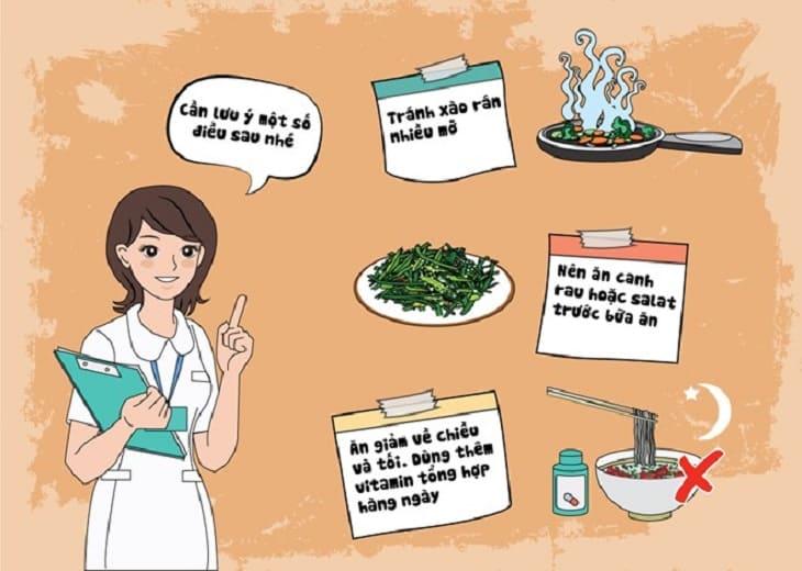 Chú ý về chế độ dinh dưỡng khi bị viêm phế quản co thắt