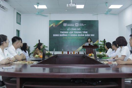 Trung tâm dinh dưỡng y khoa Quân dân 102 được thành lập vào ngày 27/11/2020
