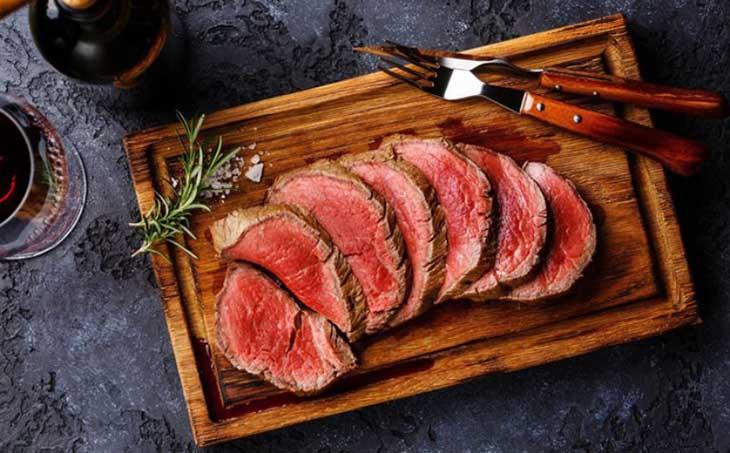 Ăn gì để giảm mỡ bụng an toàn - thịt bò
