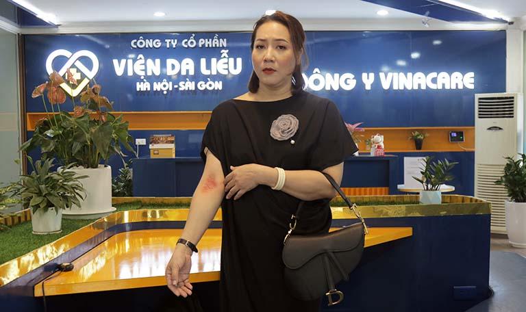 Đến với Trung tâm Da liễu Đông y Việt Nam, nghệ sĩ Thu Huyền đã mang theo rất nhiều hy vọng có thể loại bỏ vĩnh viễn căn bệnh viêm da cơ địa đáng ghét