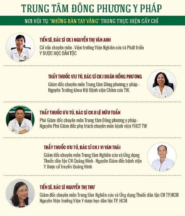 Đội ngũ bác sĩ tại Trung tâm là những tên tuổi hàng đầu trong giới YHCT