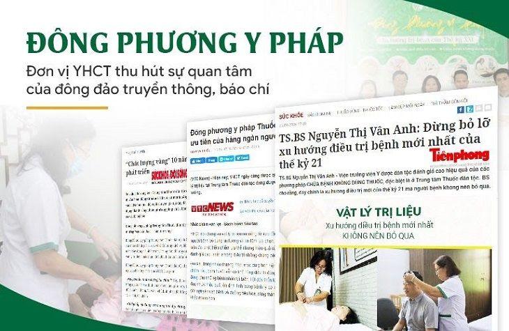 Nhiều trang báo uy tín cũng hết lời khen ngợi trung tâm Đông phương Y pháp