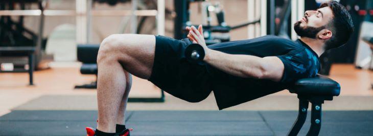 Bài tập giảm mỡ bụng nam Hip Thrust