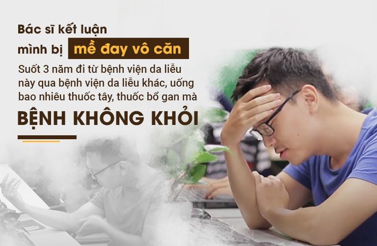 Anh Nguyễn Hùng Long bị mề đay vô căn hành hạ