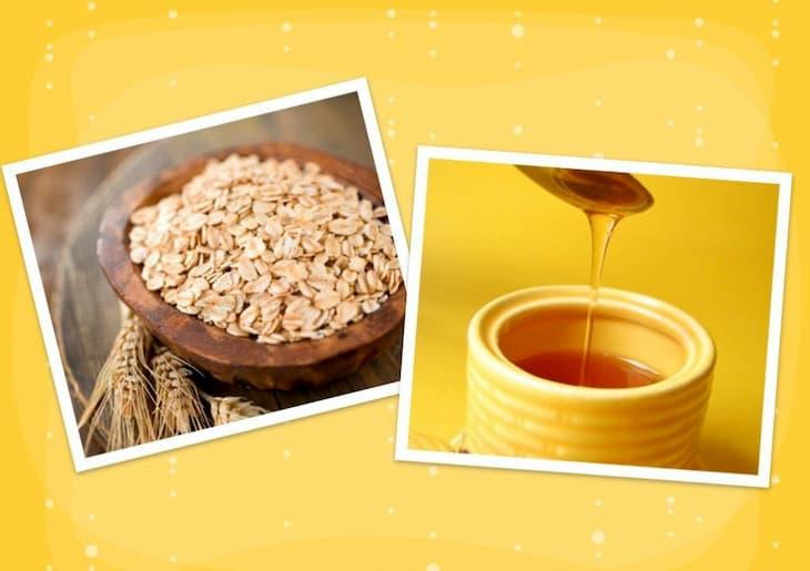 Yến mạch và mật ong khi kết hợp sẽ tạo thành hỗn hợp trị mụn đầu đen ở mũi hiệu quả