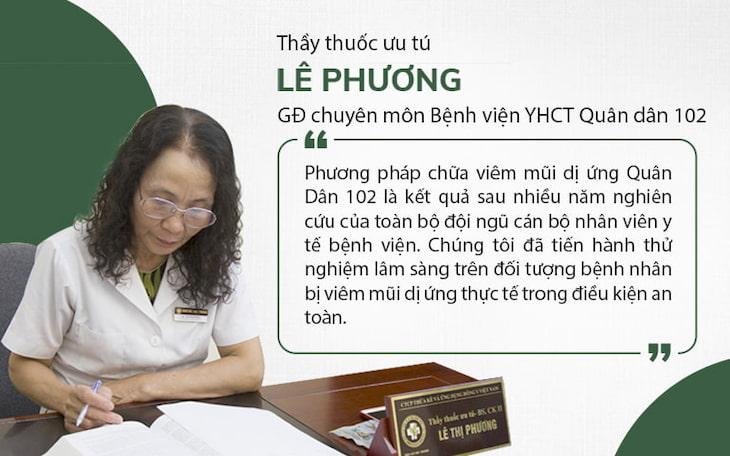 Bác sĩ Lê Phương - Giám đốc chuyên môn Bệnh viện Tai mũi họng Quân Dân 102