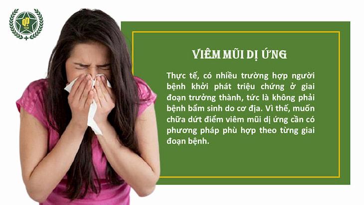 Bệnh viêm mũi dị ứng có thể trị dứt điểm nếu có phương pháp phù hợp