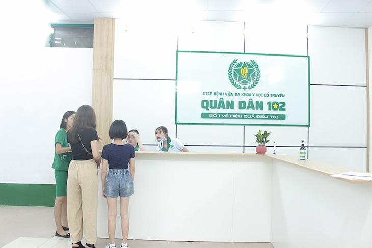 Thủ tục thăm khám tại Bệnh viện Quân Dân 102 tương đối nhanh, dễ dàng