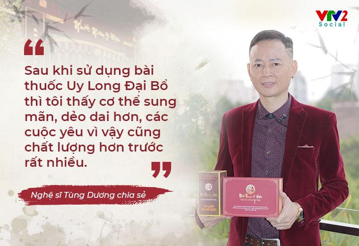 Nghệ sĩ Tùng Dương chia sẻ trong chương trình VTV2 Chất lượng cuộc sống