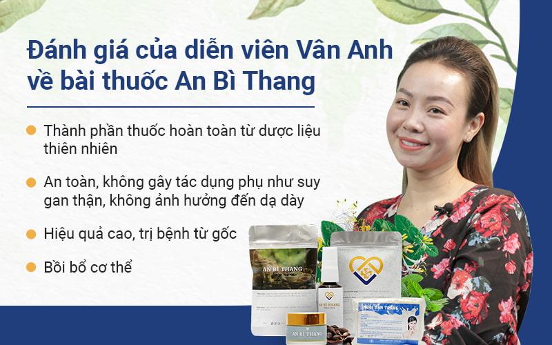 """Diễn viên Vân Anh bày tỏ: """"Tôi thấy may mắn vì đã tìm ra An Bì Thang"""""""