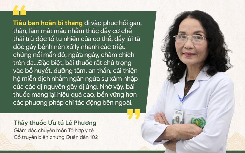 Bác sĩ Phương có giải thích kĩ cho tôi về cơ chế hoạt động của Tiêu ban hoàn bì thang