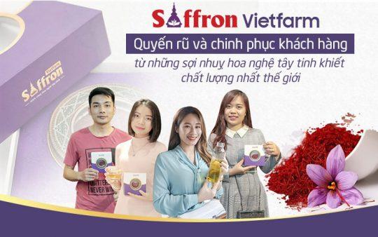 Saffron Vietfarm quyến rũ khách hàng bởi những sợi nhuỵ hoa chất lượng tốt nhất thế giới