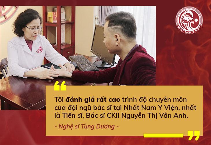 Nghệ sĩ Tùng Dương gửi lời cảm ơn sau khi điều trị thành công tại Nhất Nam Y Viện