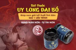 Uy Long Đại Bổ - Bài thuốc tăng cường sinh lý cho nam giới hiện đại