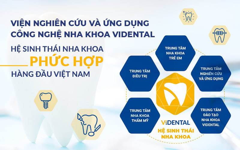 Hệ sinh thái Vidental với 5 trung tâm trực thuộc chất lượng cao