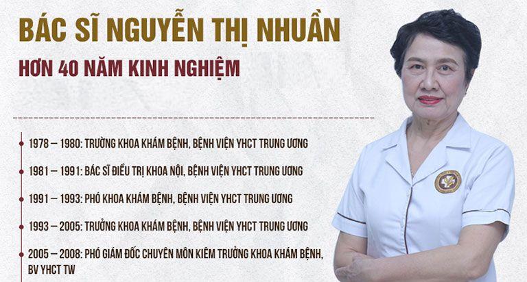 Bác sĩ Nhuần với hơn 40 năm kinh nghiệm