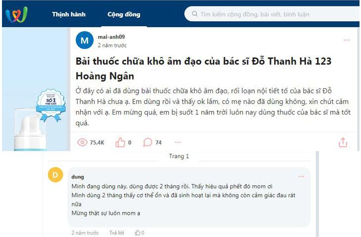 Có những topic nói về bài thuốc của bác sĩ Đỗ Thanh Hà