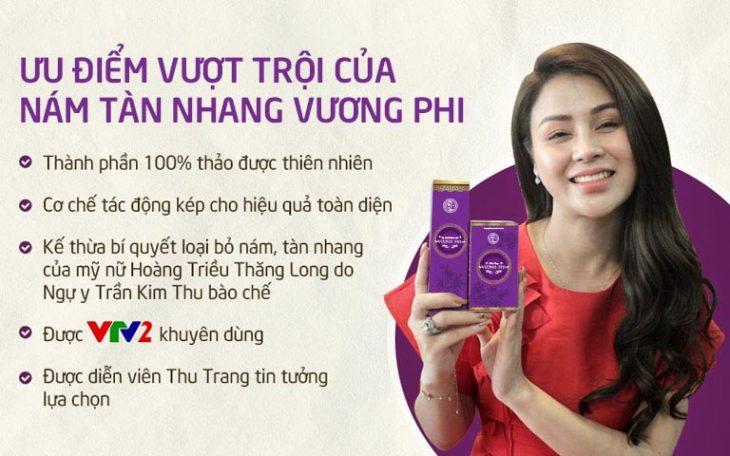 Bộ sản phẩm Nám Tàn nhang Vương Phi được đánh giá cao bởi những ưu điểm nổi bật